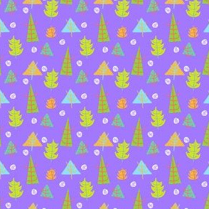 Trees on purple