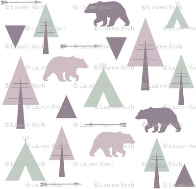 bear camp // lavender & mint