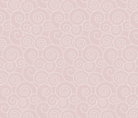Snow Plum Mei - Leggings Fabric Pattern fabric by ladycammi on Spoonflower - custom fabric