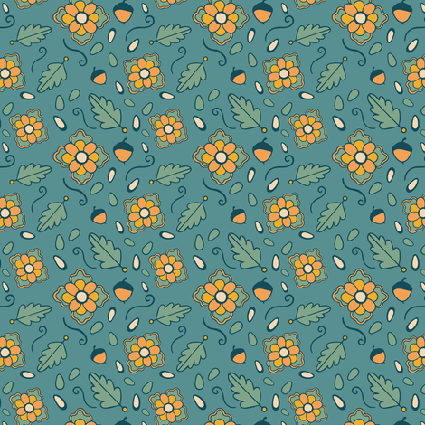 Autumn Acorns fabric by jacquelinehurd on Spoonflower - custom fabric