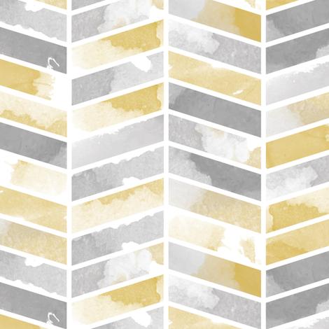 Herringbone grey and yellow fabric by lburleighdesigns on Spoonflower - custom fabric