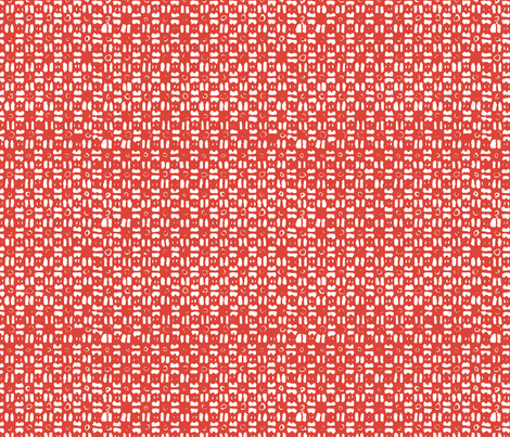 Gridlock Big - Deep Salmon fabric by jodiebarker on Spoonflower - custom fabric