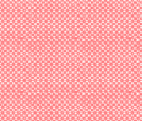Gridlock Big - Flamingo Pink fabric by jodiebarker on Spoonflower - custom fabric