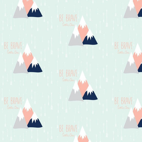 Move Mountains in Blush + Grey + Navy on Mint