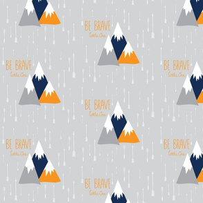 Move Mountains Orange + Grey + Navy