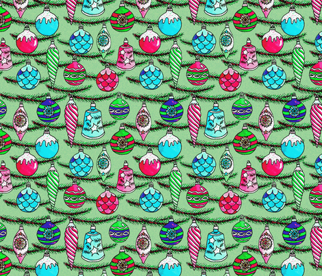 Vintage_ornaments-ch fabric by leroyj on Spoonflower - custom fabric