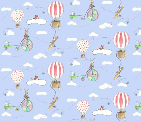 Hot Air Balloons fabric by chavamade on Spoonflower - custom fabric