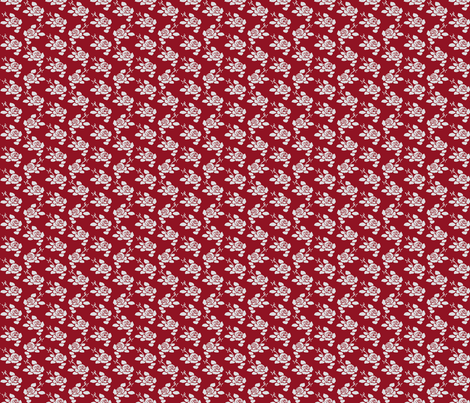 Anita Petite Rev. - Dark Red & Grey fabric by jodiebarker on Spoonflower - custom fabric