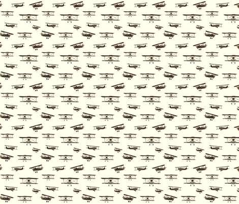 Retro airplanes fabric by katerinaizotova on Spoonflower - custom fabric