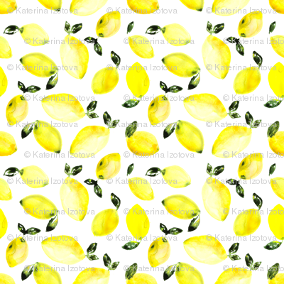 Watercolor lemons