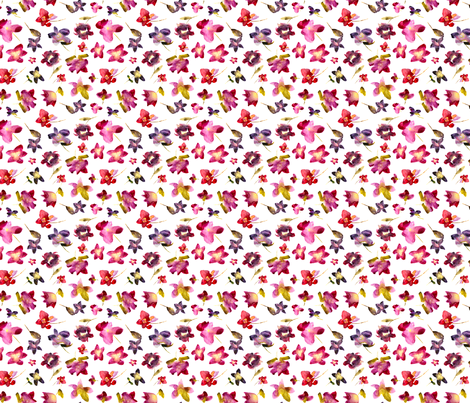 Watercolor flowers fabric by katerinaizotova on Spoonflower - custom fabric