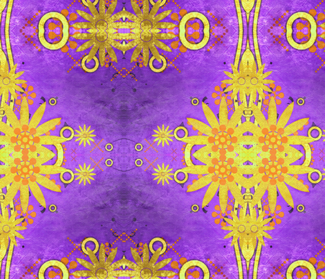 Gold in Purple fabric by floramoon on Spoonflower - custom fabric