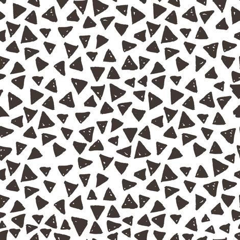 Marker doodle triangles fabric by mzwonko on Spoonflower - custom fabric