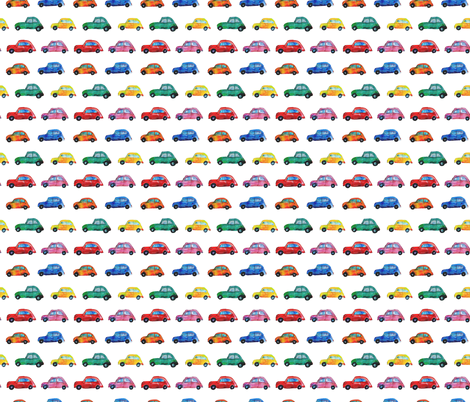 Watercolor cars fabric by katerinaizotova on Spoonflower - custom fabric