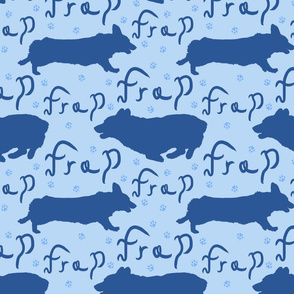 Pembroke Welsh Corgi frap - blue