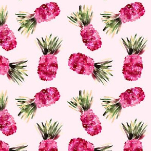 Pink pineapples, Watercolor