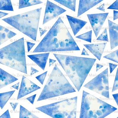 Watercolor ice triangles