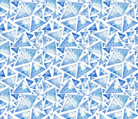 Watercolor ice triangles fabric by mzwonko on Spoonflower - custom fabric