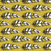 Feathers bold  // Mustard background