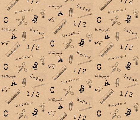 Vintage School Fabric fabric by chavamade on Spoonflower - custom fabric