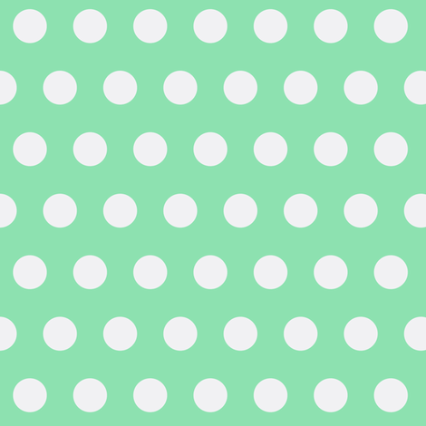 Mint Dots fabric by kbexquisites on Spoonflower - custom fabric