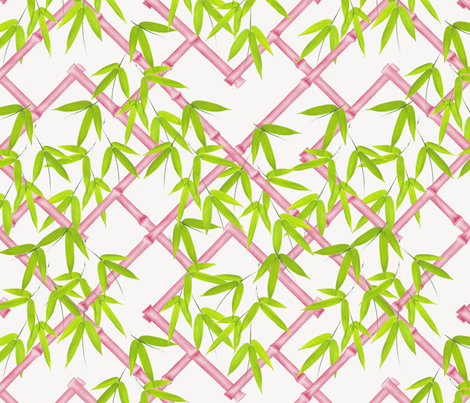 Osaka Trellis // Pink & Chartreuse fabric by willowlanetextiles on Spoonflower - custom fabric