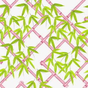 Osaka Trellis // Pink & Chartreuse