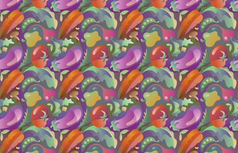 Organic_Vegetable_Oasis fabric by margodepaulis on Spoonflower - custom fabric