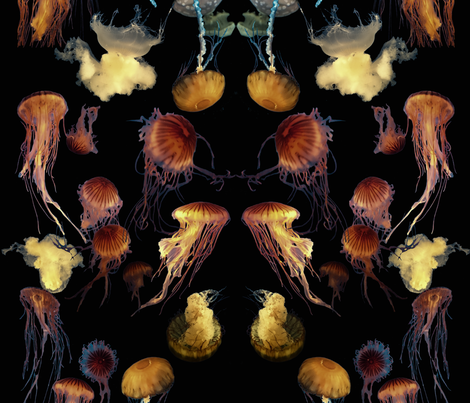 jellyfishdark fabric by amyjeanne_wpg on Spoonflower - custom fabric