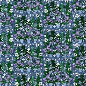 Sweetheart Faith With Irises Fabric #2