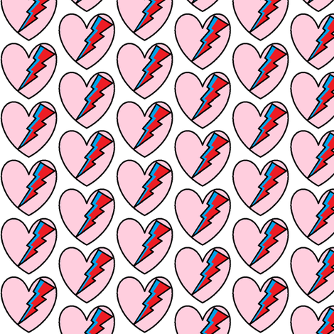 love_bowie fabric by nerdmeup on Spoonflower - custom fabric