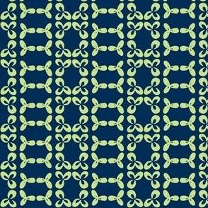 geometric clover leaf lime/navy