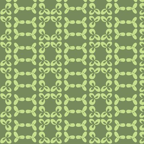 geometric clover leaf lime/olive fabric by ali*b on Spoonflower - custom fabric
