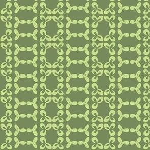 geometric clover leaf lime/olive