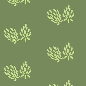 clover flower lime/olive