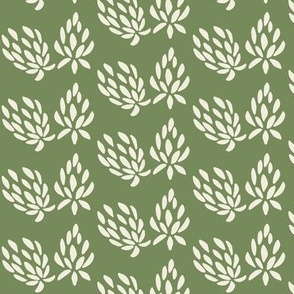 clover all over cream/olive