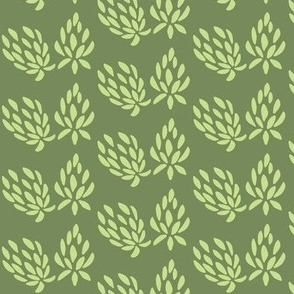 clover all over  lime/olive