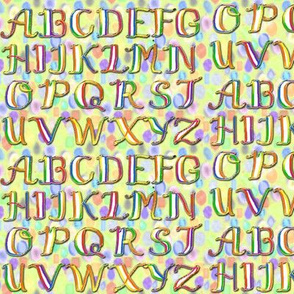 Rainbow Calligraphy Alphabet