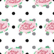 Merry Christmas Polka Dot