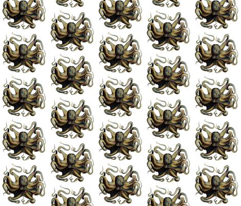 Vintage Octopus Illustration fabric by 13moons_design on Spoonflower - custom fabric