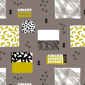 geometric inky texture abstract cubes and lines scandinavian style design retro fall