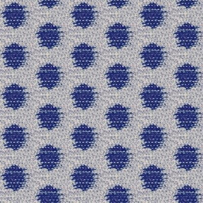 Kasuri Weave - indigo, silver
