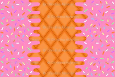 Strawberry Ice Cream Border