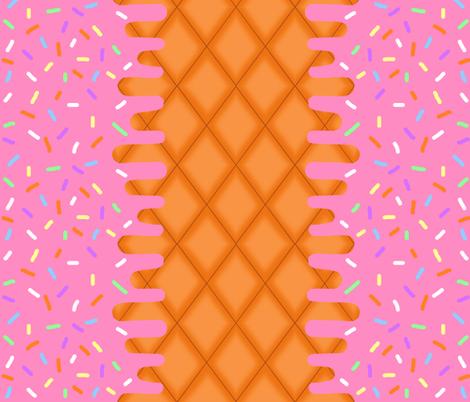 Strawberry Ice Cream Border fabric by interrobangart on Spoonflower - custom fabric