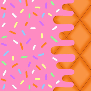 Strawberry Ice Cream Border