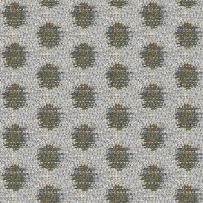 Kasuri Weave - khaki, grey