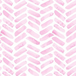 Pink Herringbone watercolor