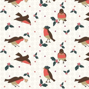 Vintage Christmas Birds and Berries
