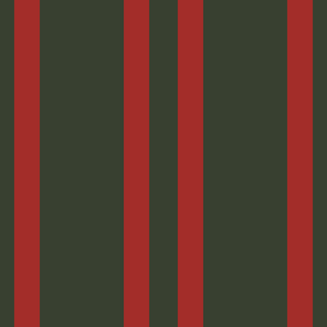 Vintage Red Stripes on Forest Green fabric by anniedeb on Spoonflower - custom fabric