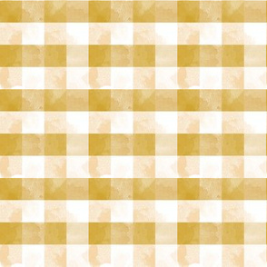 Watercolor gingham in yellow